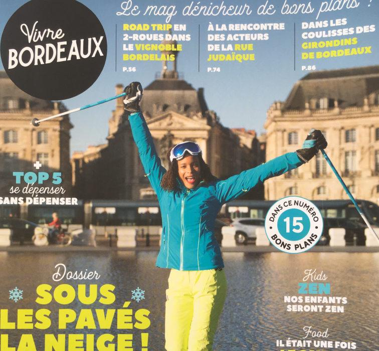 Couverture Vivre Bordeaux Hiver Article Yoga de Gasquet Elise Alexeline
