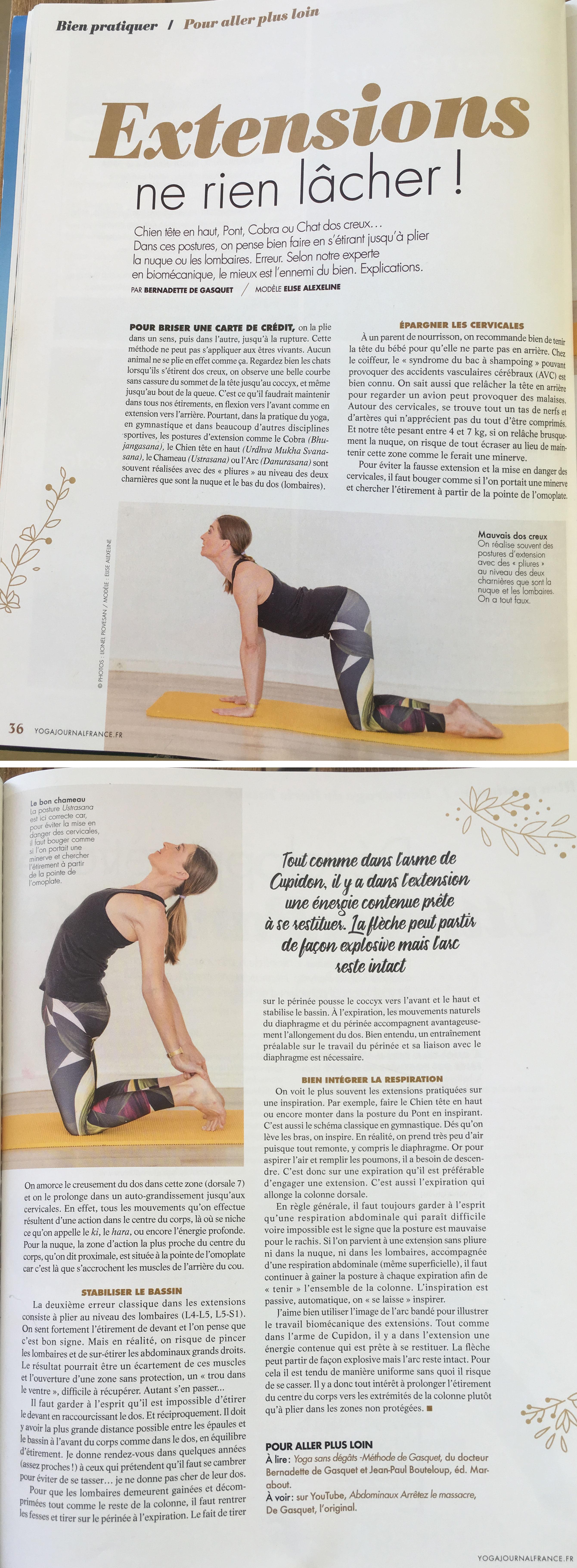 Yoga Journal France Avril 2018 Article Elise Alexeline