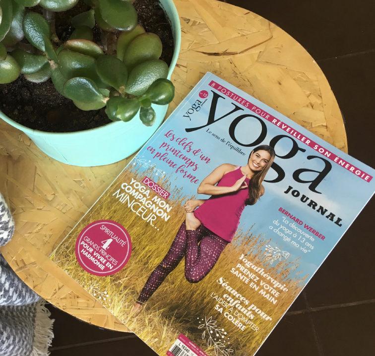 Elise Alexeline est dans le Yoga Journal d'avril !